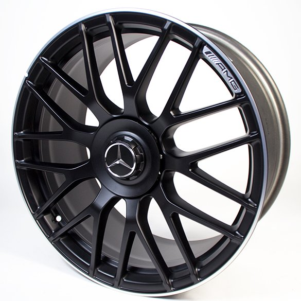 AMG 19 Inch Forged Wheel C Class W205 Cross Spoke Design Black Original  Mercedes Benz