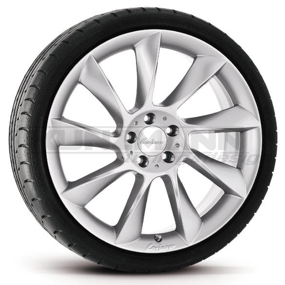 Lorinser rs8 alloy wheels complete wheel set mercedes for Mercedes benz original wheels