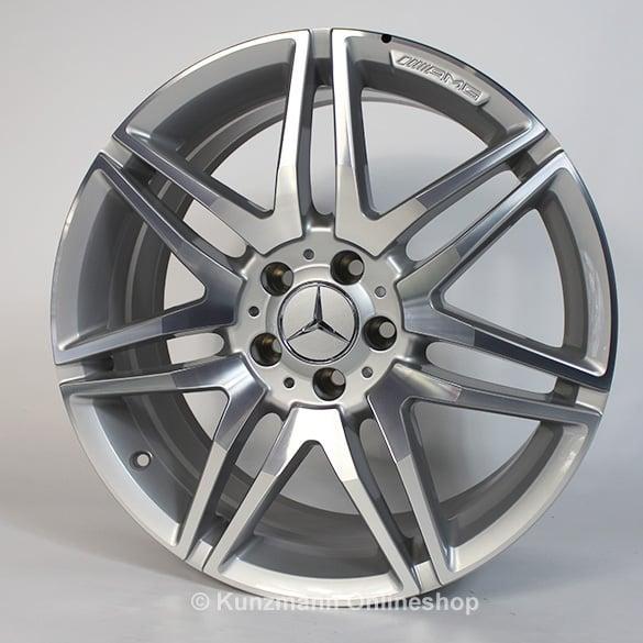Amg 7 twin spoke rim set 19 inch e class w212 for Mercedes benz 19 inch rims