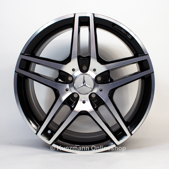Amg 18 inch rims e class w212 original mercedes benz black for Black rims for mercedes benz e350