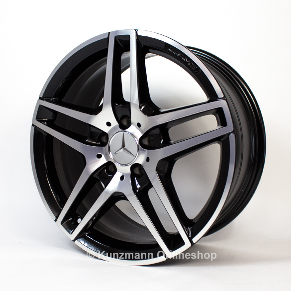 amg 18 inch rims e class w212 original mercedes benz black polished. Black Bedroom Furniture Sets. Home Design Ideas