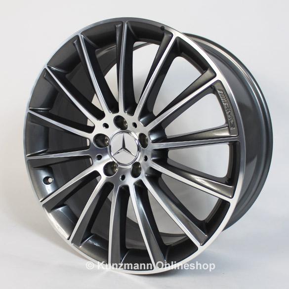 Amg multi spoke rim set 20 inch titanium grey e class w213 for Mercedes benz 20 inch rims
