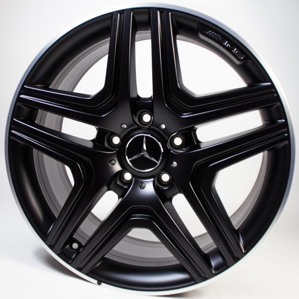 G 63 65 Amg 20 Inch Light Alloy Wheels 5 Twin Spoke Black G Wagon 463 Original Mercedes Benz