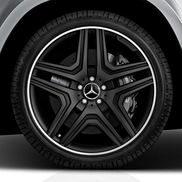 Amg 21 Inch Wheels Set 5 Twin Spoke Design Gl Class X166