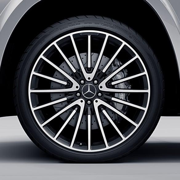 22 Inch Tires >> Amg 22 Inch Rims Set Gls X166 High Sheen Black Genuine Mercedes Benz