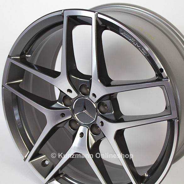 Amg 5 twin spoke rim set 19 inch gla x156 genuine mercedes for Mercedes benz 19 inch amg wheels