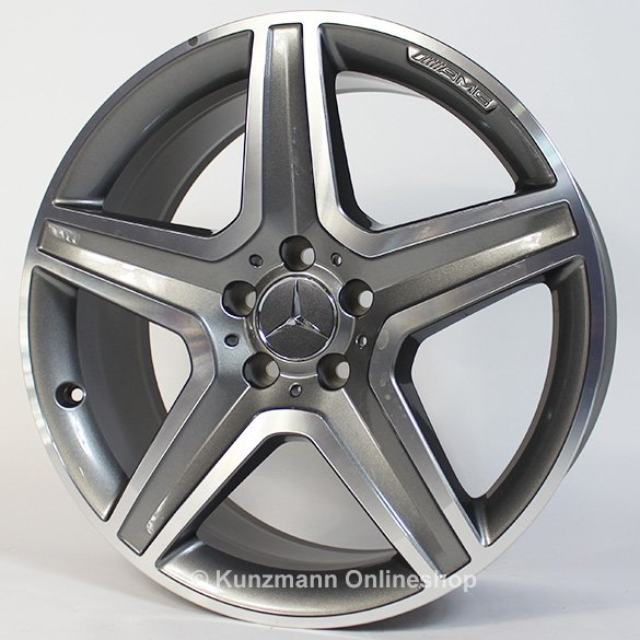 Amg 19 inch light alloy wheel set gla x156 5 spoke for Mercedes benz 19 inch amg wheels