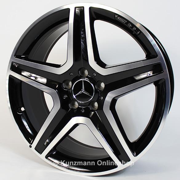 Amg 19 inch light alloy wheel set gla x156 5 spoke for Mercedes benz amg alloy wheels