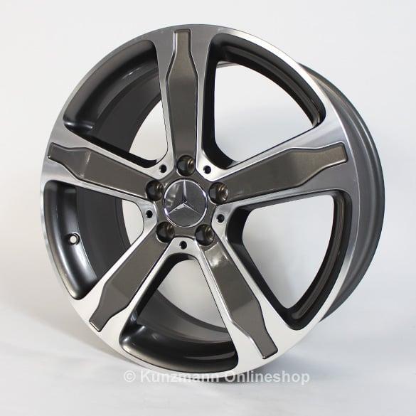 5 spoke rim set 19 inch gla x156 genuine mercedes for Mercedes benz 19 inch rims