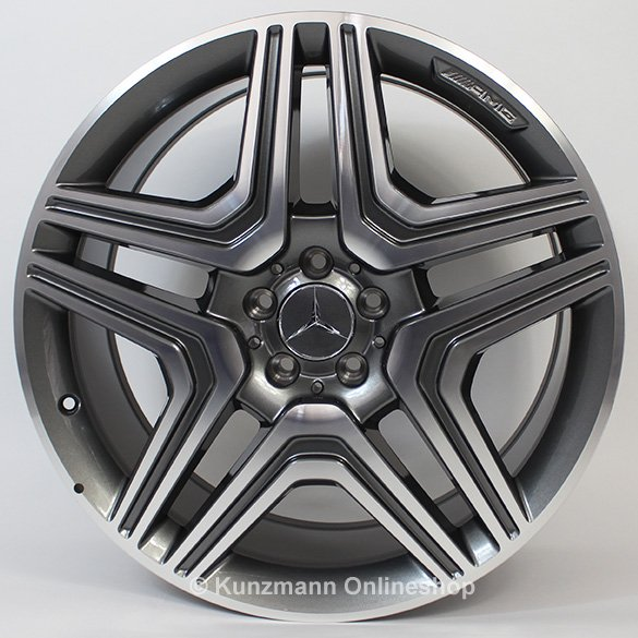 Amg 5 twin spoke 21 inch rims set m class w166 genuine for Mercedes benz amg rims for sale