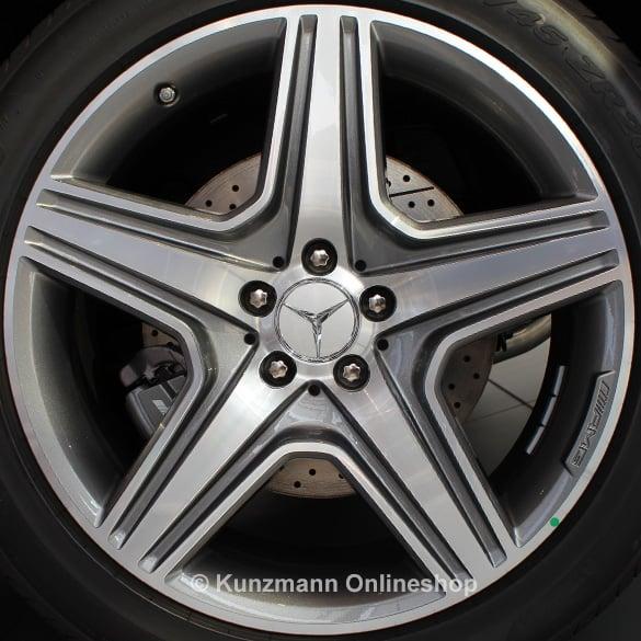 18 Inch Rims >> AMG 20 Zoll Felgensatz | M-Klasse W166 | 5-Speichen-Felgen | titangrau