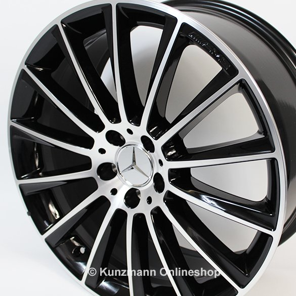 Mercedes C Black Wheels