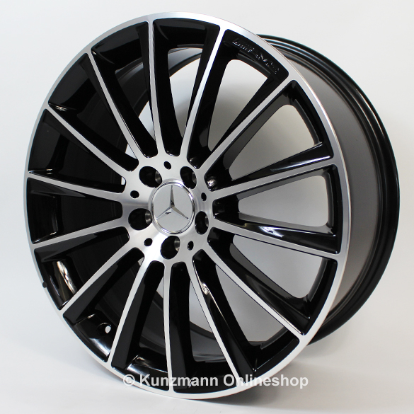 Amg 20 inch alloy wheel set s class w222 multi spoke for Mercedes benz s550 rims for sale