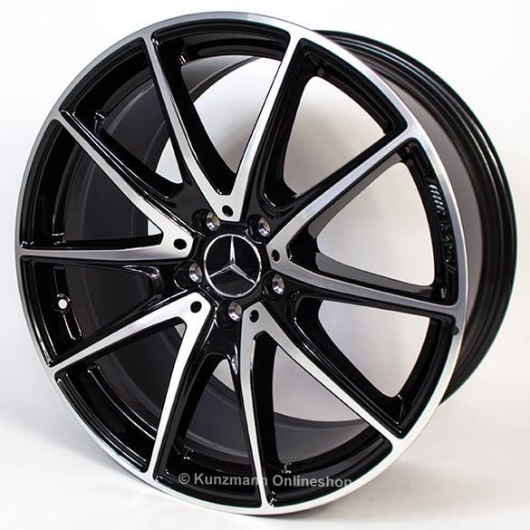 Mercedes Benz Original Rims: AMG 20-inch Alloy Wheel Set S-Class W222 5-twin-spoke