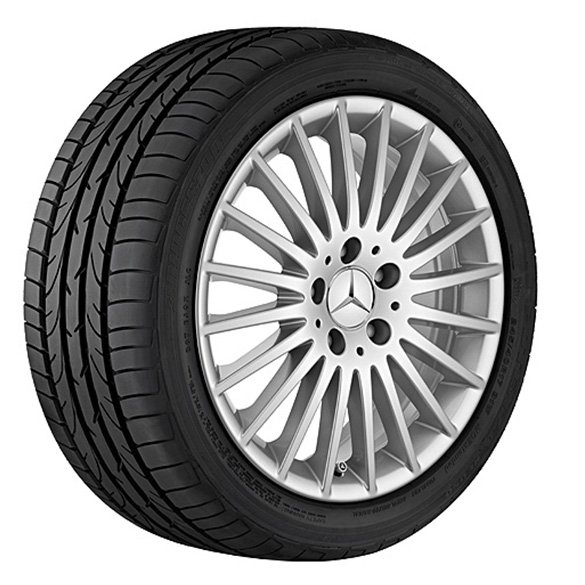 17 inch set of rims multi-spoke wheel Mercedes-Benz V-Class silver