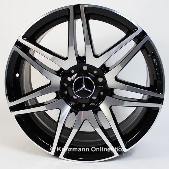 Amg 19 inch wheel set 7 spoke wheel v class br447 original for Mercedes benz original wheels