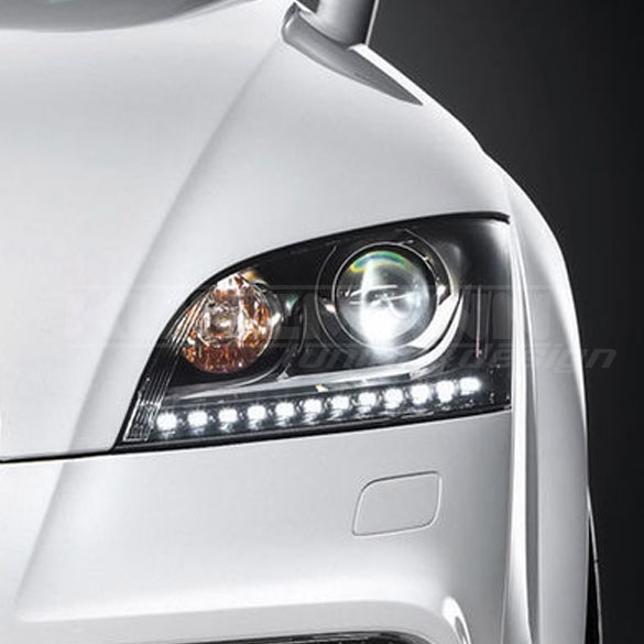 headlamps Audi TTS with LED daytime running lights