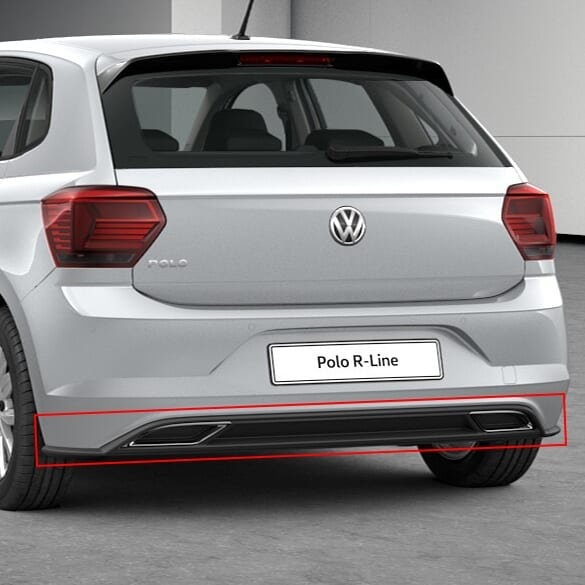 facelift diffusor polo   genuine volkswagen