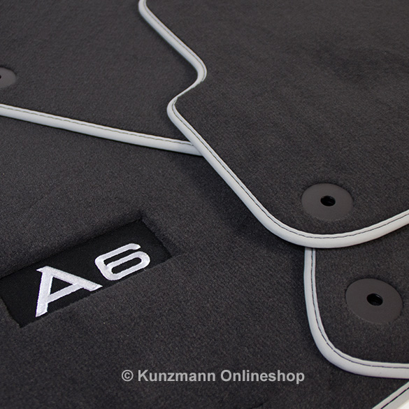 Original Audi A6 (4F) genuine floor mats premium with A6 branding