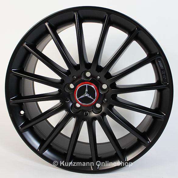 AMG 19-inch summer- complete wheels black A-Class W176 Styling V Genuine Mercedes-Benz