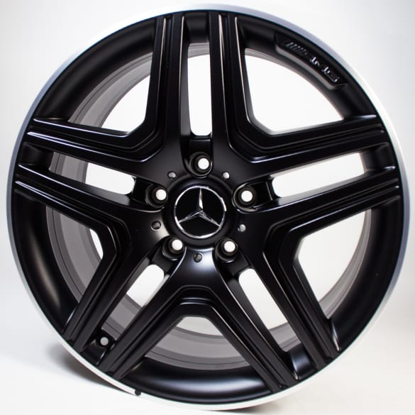 AMG 20 inch summer wheels 5-double-spokes black G-Class W463 genuine Mercedes-Benz