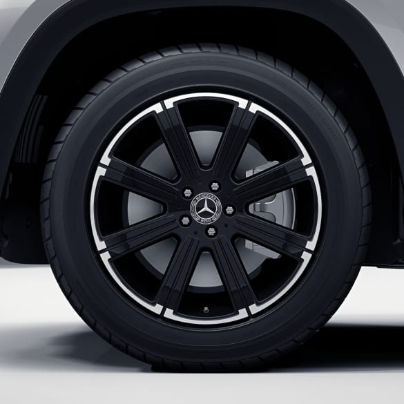20 inch rim set GLS SUV X167 8-spoke black genuine Mercedes-Benz