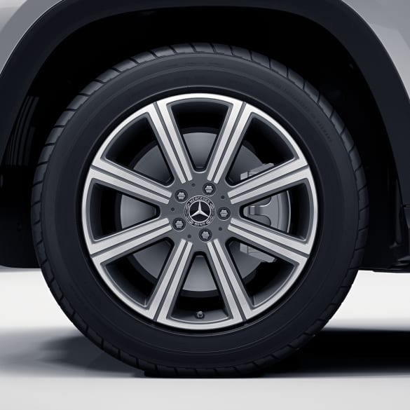 20 inch rim set GLS SUV X167 8-spoke himalaya grey Genuine Mercedes-Benz