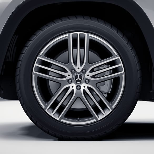 21 inch rim set GLS SUV X167 5-double-spoke himalaya grey genuine Mercedes-Benz