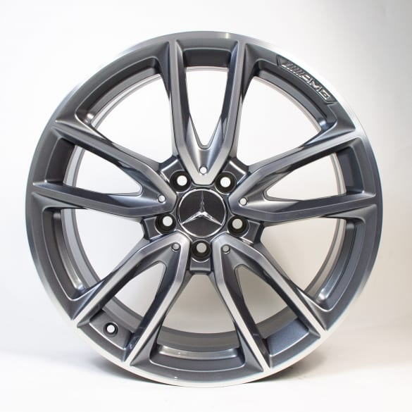 AMG 19 inch 5-double-spoke titanium grey A-Class W177 genuine Mercedes-Benz rim set