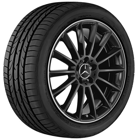 AMG 19 inch wheel set multi-spoke wheel black with glossy surface GLA X156 original Mercedes-Benz