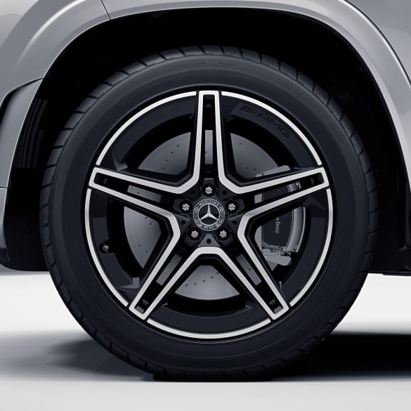 AMG 21 inch rim set GLS SUV X167 5-double-spoke black genuine Mercedes-Benz