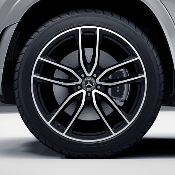AMG 23 inch rim set GLS SUV X167 5-double-spoke black genuine Mercedes-Benz