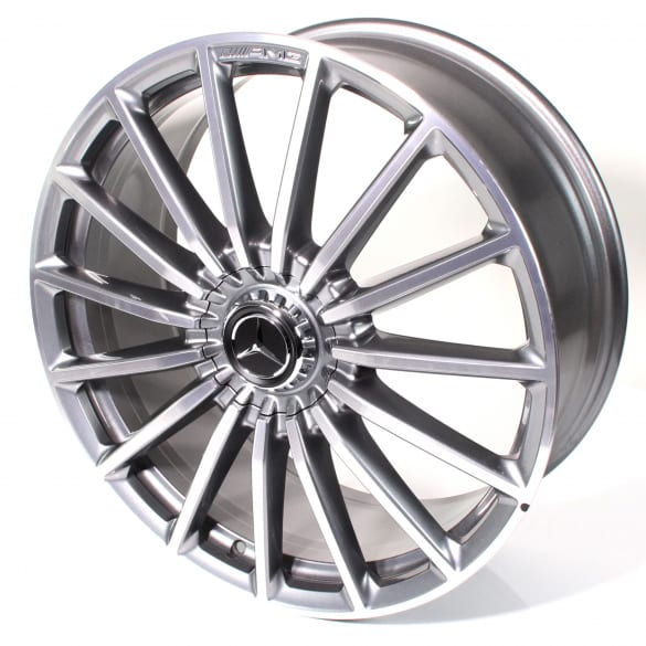 AMG 63 22 inch rim set GLS SUV X167 multi-spoke titanium grey genuine Mercedes-Benz
