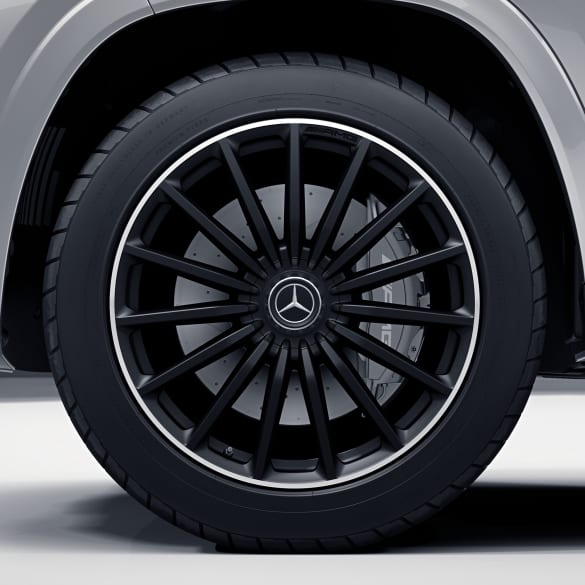 AMG 63 22 inch rim set GLS SUV X167 multi-spoke black high-sheen genuine Mercedes-Benz
