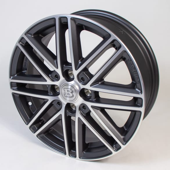 Brabus 16 inch rim set genuine smart 453 Monoblock VIII anthracite high-sheen