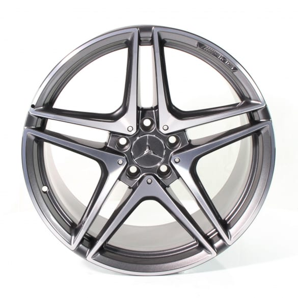 C 63 AMG 19 inch rim set C-Class C205/A205 5-double-spokes Mercedes-Benz