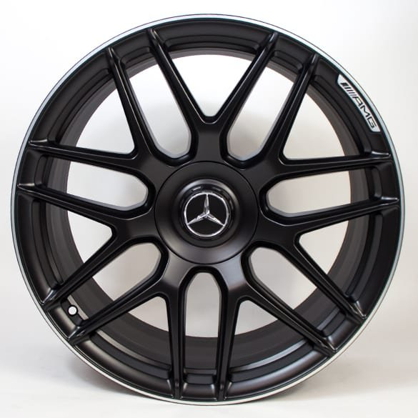 E63 AMG 20 inch forged rim set E-Class 213 cross-spoke black matte genuine Mercedes-Benz