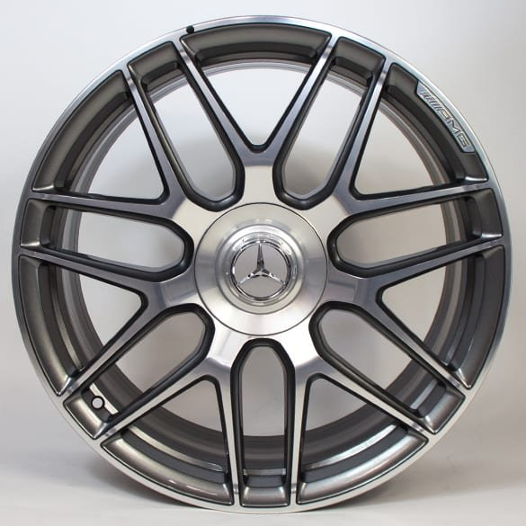 E63 AMG 20 inch  forged rim set E-Class 213 cross-spoke grey matte genuine Mercedes-AMG