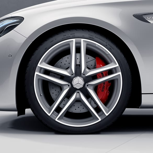 E 63 AMG 20 inch rim-set E-Class 213 5-doublespoke-design titanium grey matt genuine Mercedes-Benz