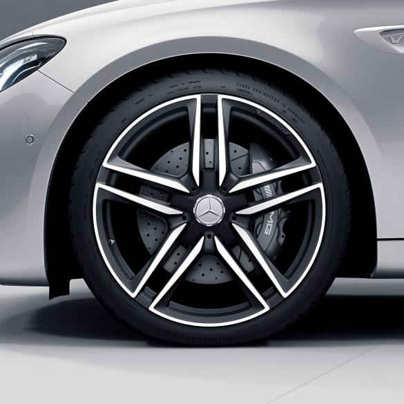 E63 AMG 20 inch rim-set E-Class 213 5-doublespoke-design black matte genuine Mercedes-Benz