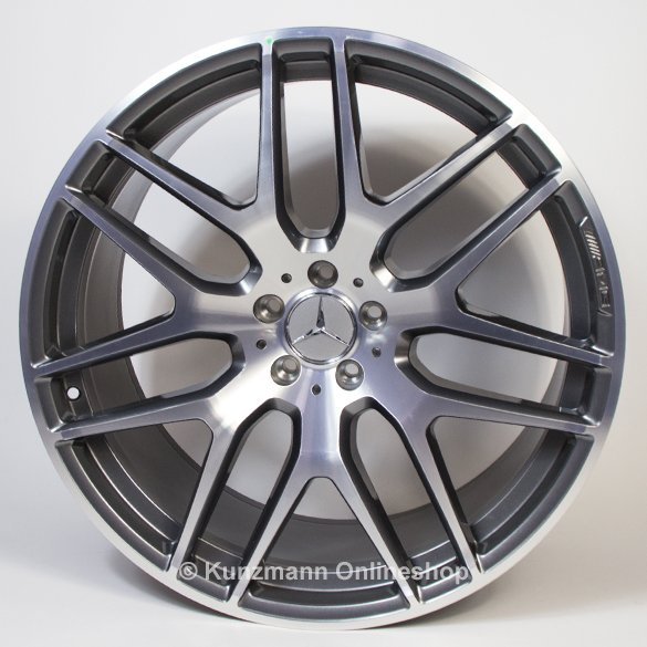 22 inch amg wheel set multispoke glossy black gle coup for Mercedes benz wheel and tire protection