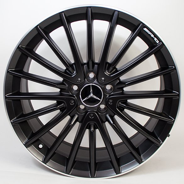 AMG 20 inch wheel set multi-spoke wheel / black GLA X156 original Mercedes-Benz