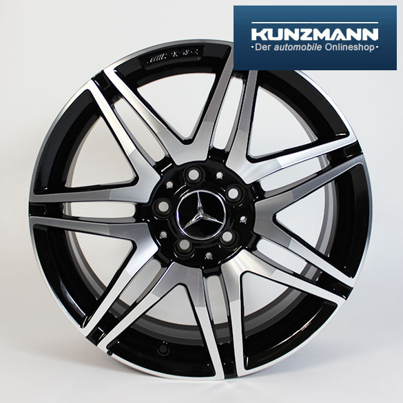 AMG 18-inch summer complete wheels | C-Class W204 | 7 twin-spoke | Genuine Mercedes-Benz