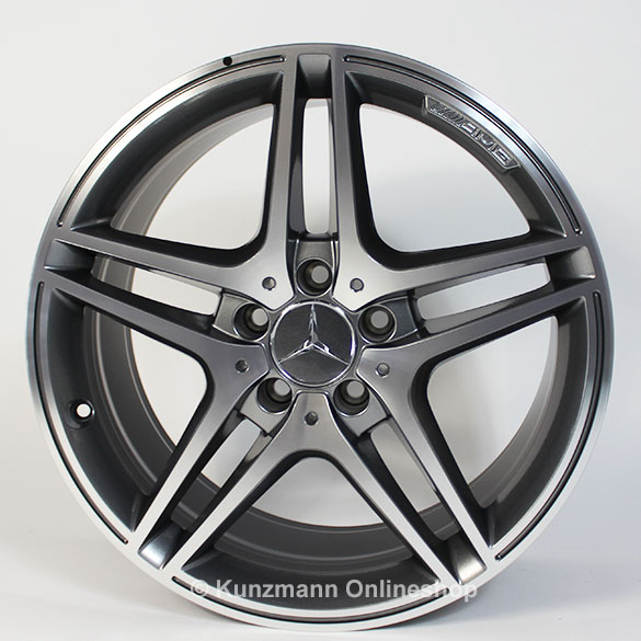 AMG 18-inch summer complete wheels | C-Class W204 | 5-twin-spoke | Genuine Mercedes-Benz
