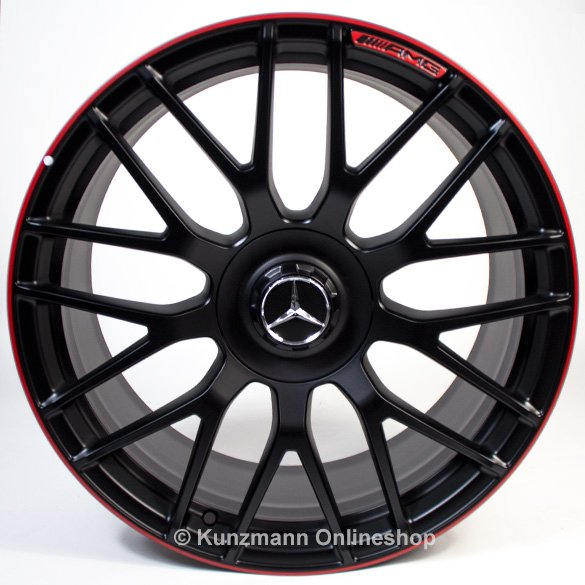 AMG 19 inch forged wheel C-Class W205 cross-spoke design edition 1 red original Mercedes-Benz