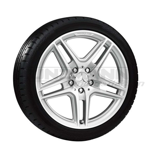 AMG Styling 4 IV - five-spoke-design light-alloy wheels with tires 18 inch C-Class W204