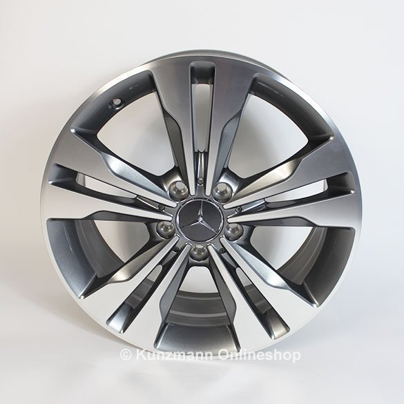 18-inch alloy wheel set E-class W212 original Mercedes-Benz himalaya gray