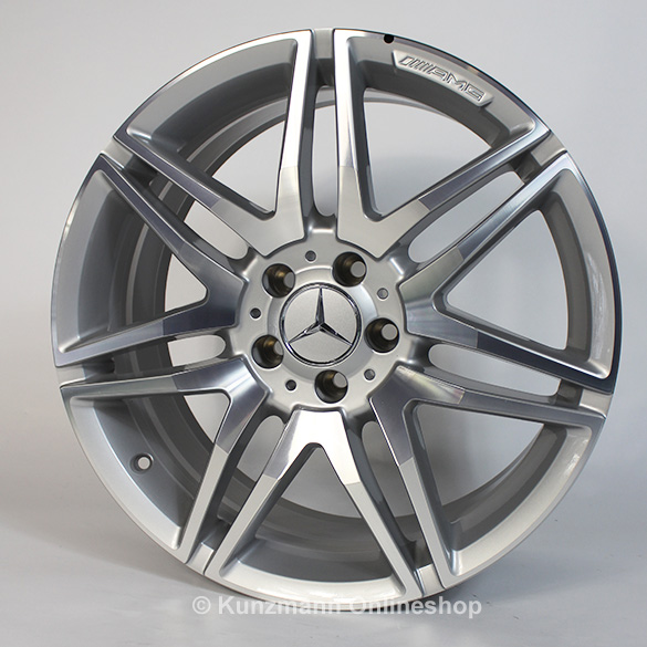 AMG 7-twin-spoke rim set 19 inch E-Class W212 Original Mercedes-Benz silver