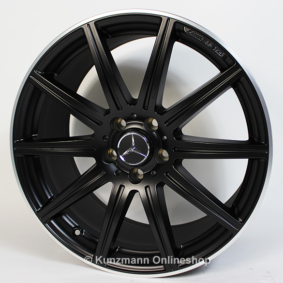 E 63 AMG 19-inch alloy wheel set 10-spoke alloy wheels Mercedes-Benz E-Class W212 black matte