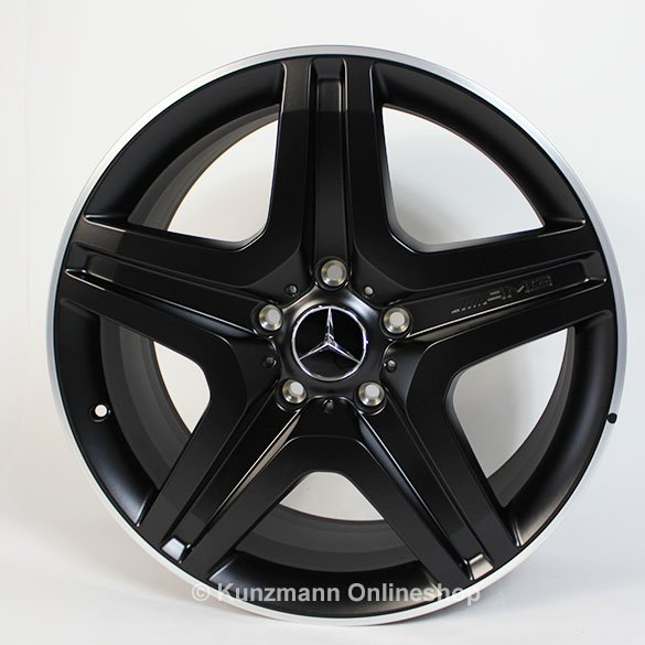 G 63 / 65 AMG 20-inch alloy wheel set G-Class W463 5-twin-spoke design black matt
